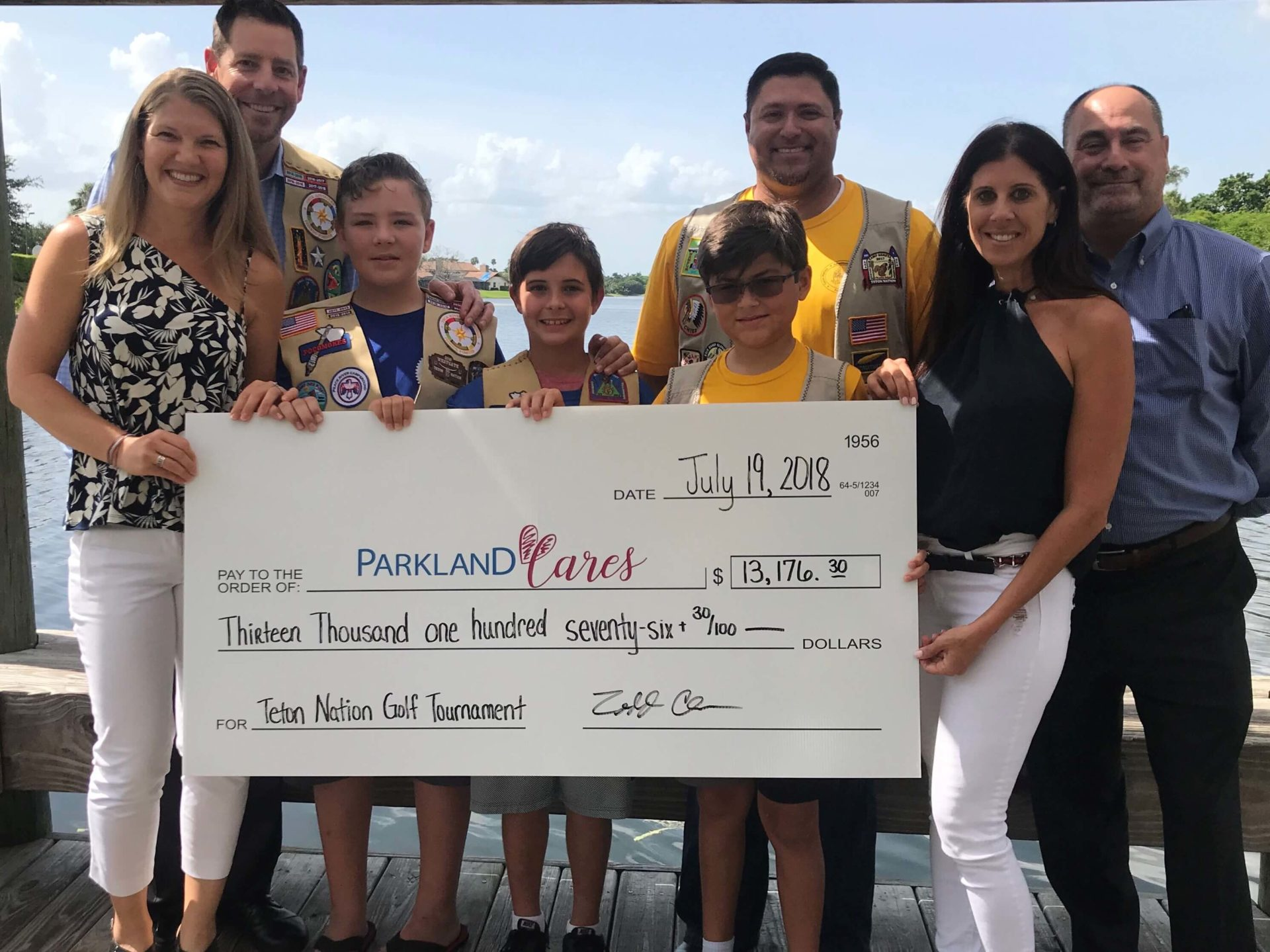 Parkland Cares Donation from Teton National Golf Tournament