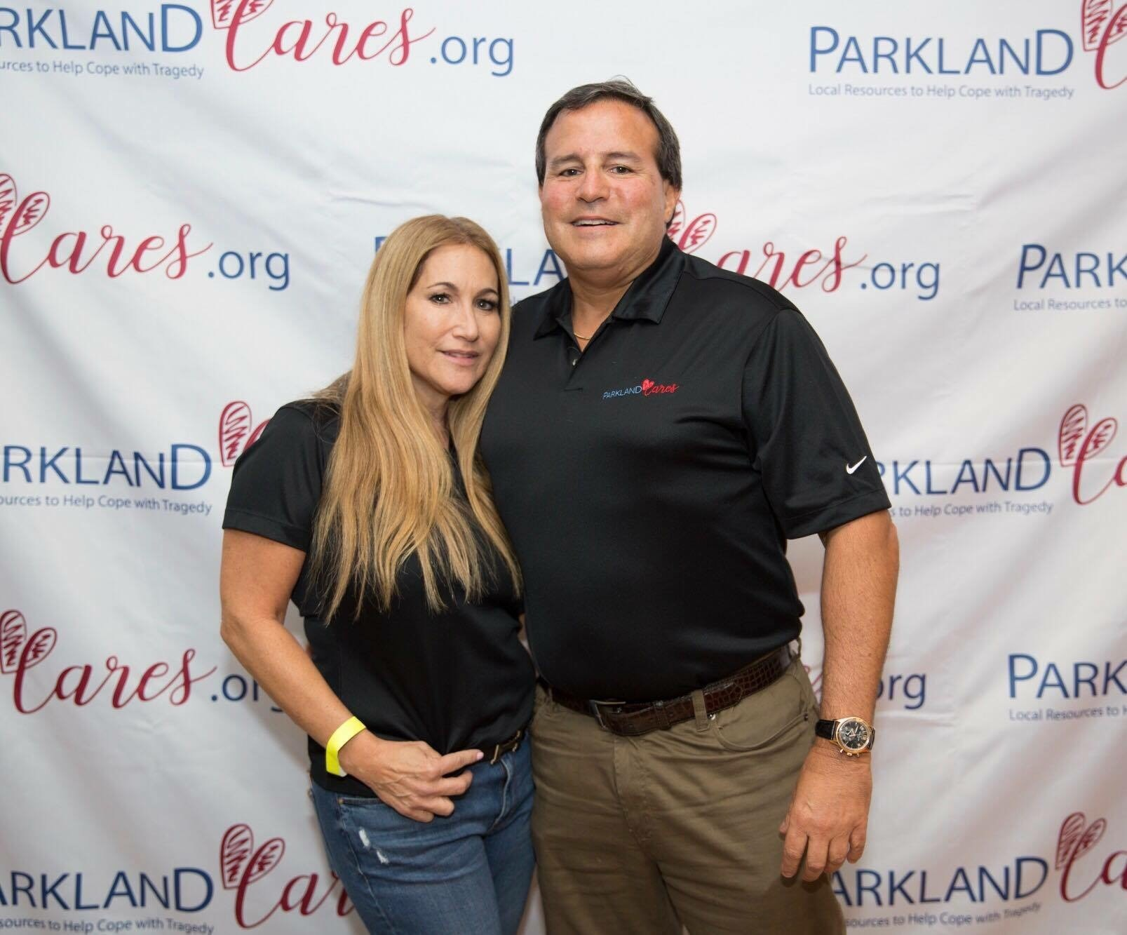 Gwen and Howard Dvorkin at Parkland Cares event