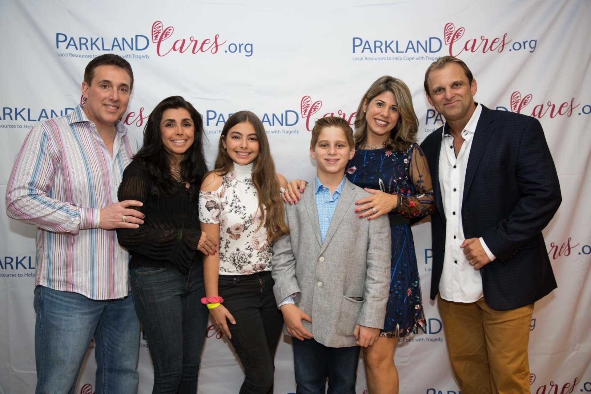 Dan Solomon and family at Parkland Cares event