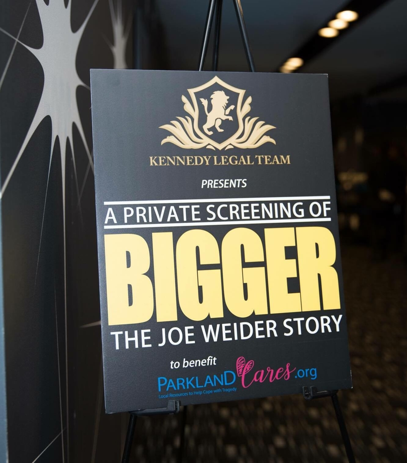 Private screening of BIGGER event poster