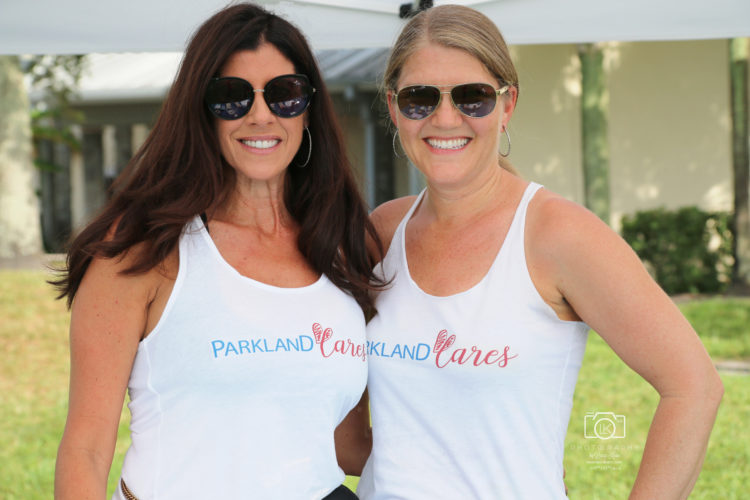 Stacey and Pam at Parkland Cares event