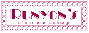 Runyon's a fine restaurant and lounge logo