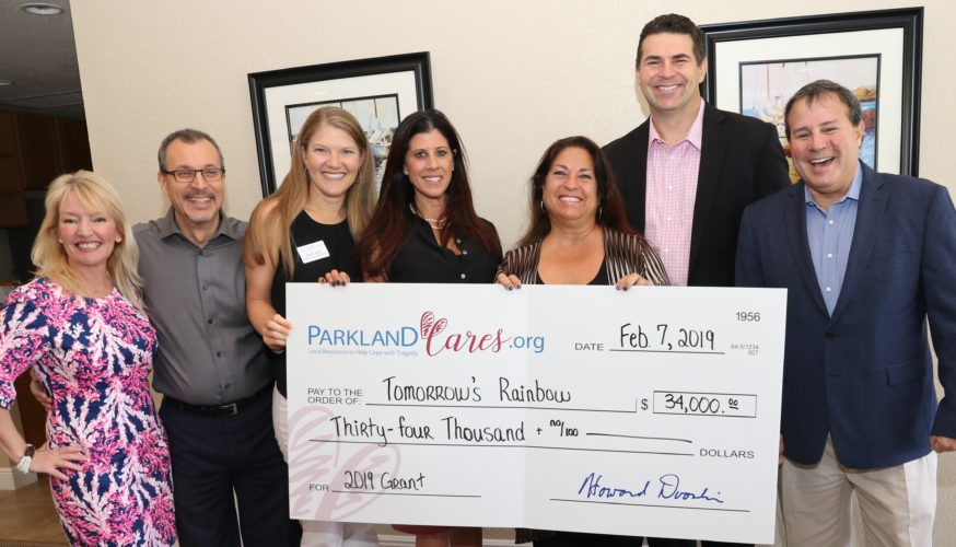 Parkland Cares Donation from Tomorrows Rainbow