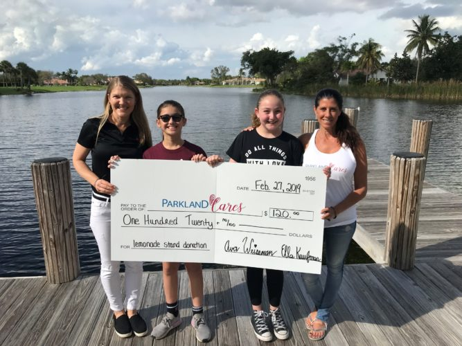 Parkland Cares Lemonade Stand Donation
