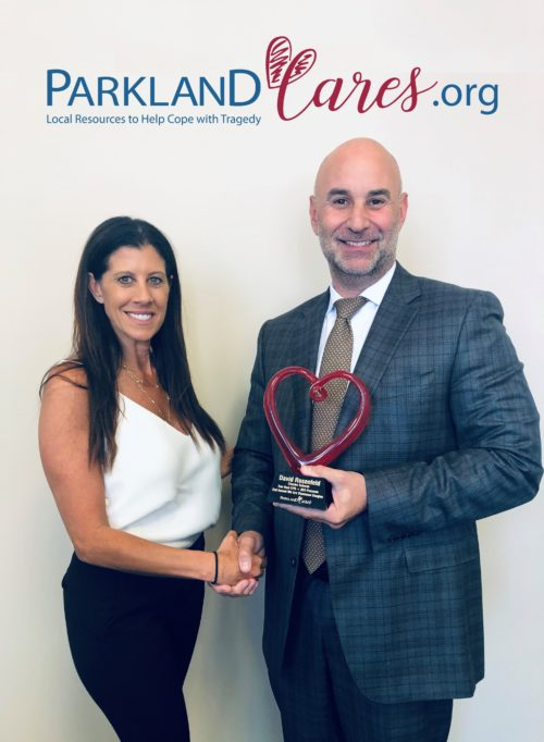 David Rosenfeld & Stacey with heart plaque