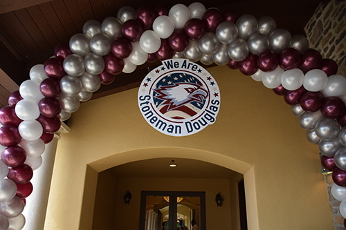 We Are Stoneman Douglas balloon arch