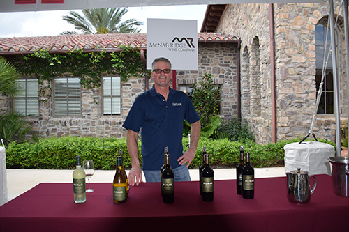 Man and wines at the McNab Ridge Wine Company stand