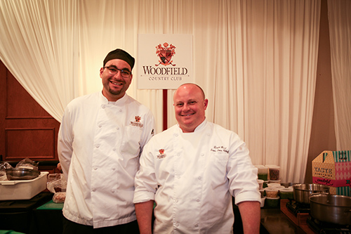 Chefs at the Woodfield Country Club stand
