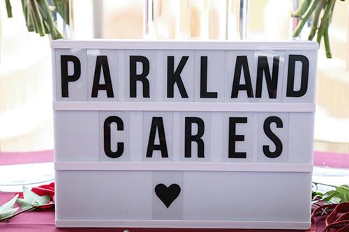 Parkland Cares sign