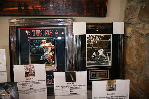 Baseball memorabilia for auction
