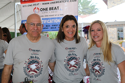 One Beat CPR + AED 2nd annual We Are Stoneman Douglas event crew members group photo