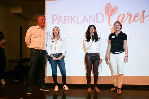 George Temel, Debi Weisman, Stacey Udine, and Pam Aks at the Parkland Cares ceremony