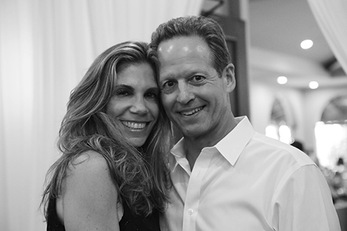 Black and white photo of a couple at the One Beat CPR + AED 2nd annual We Are Stoneman Douglas event