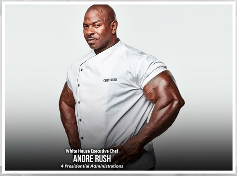 White House Executive Chef: Andre Rush. 4 Presidential Administrations