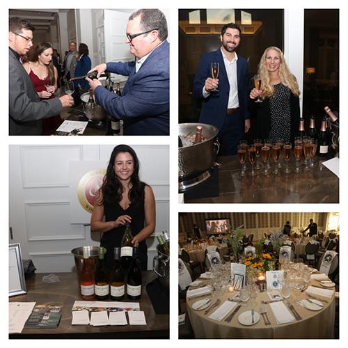 Wine tasting event collage