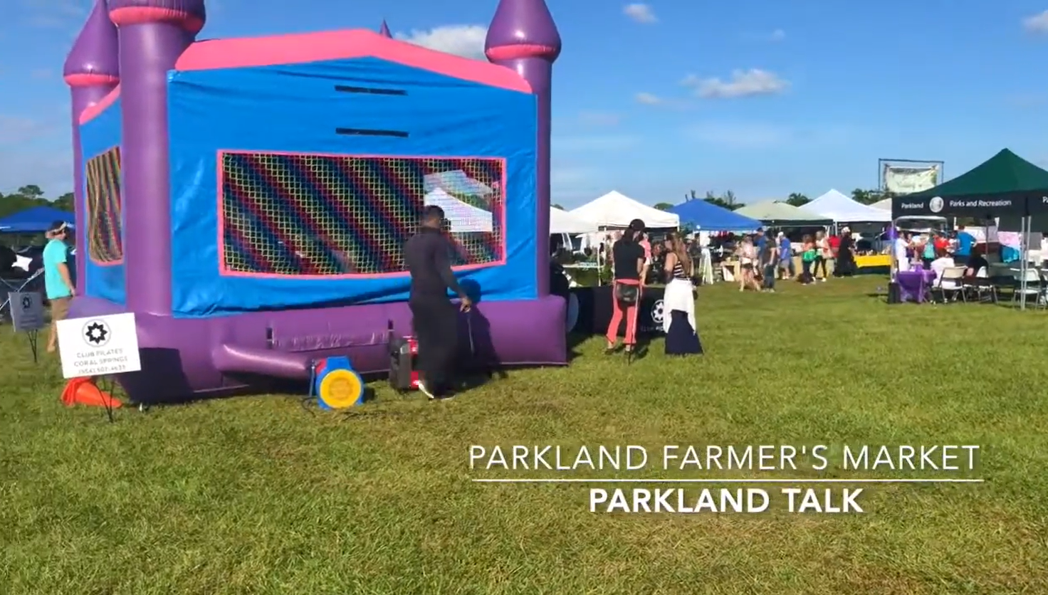 Bounce house at the Parkland Farmers' Market Business Expo