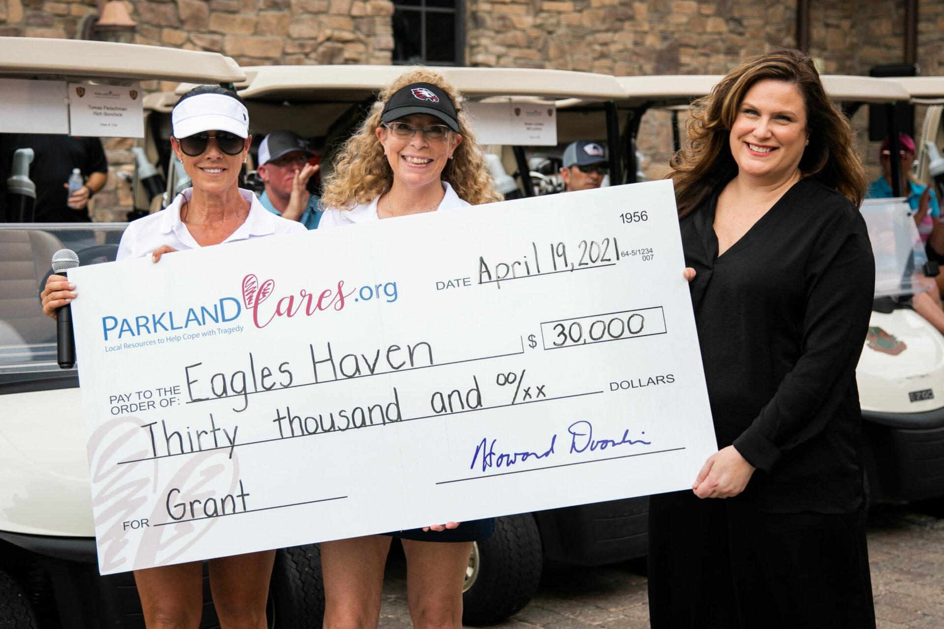 Parkland Cares Golf Tournament grant towards Eagle's Haven