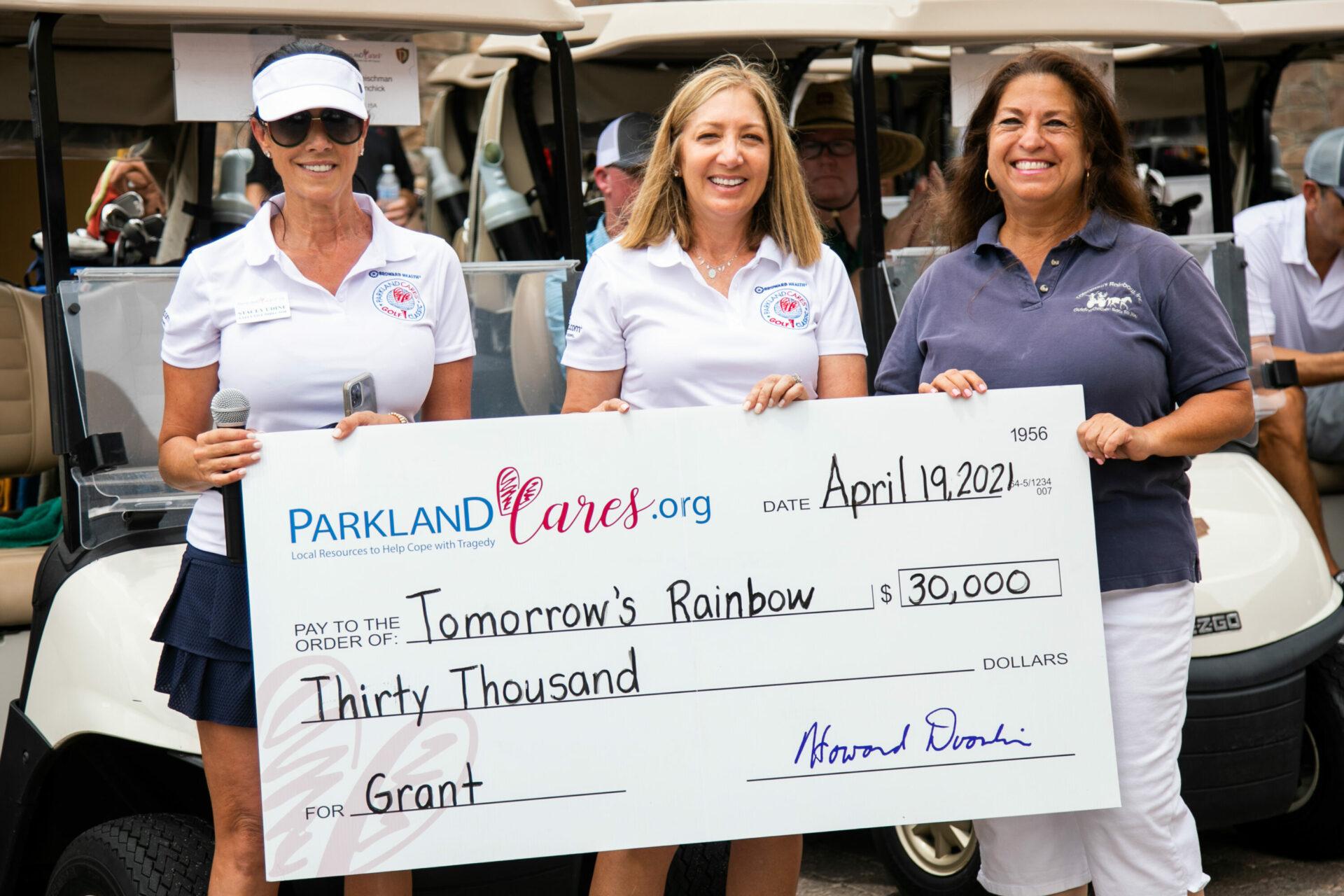 Parkland Cares Golf Tournament grant towards Tomorrow's Rainbow